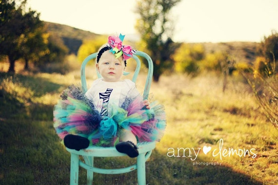 Animal Print Birthday Tutu  Great for Birthdays, Photography Prop, and Dance