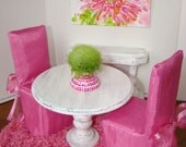 RESERVED for Mamushouse - Barbie Furniture - Dining Room Set with Sideboard Table & Rug for Fashion Dolls