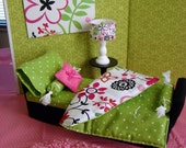 RESERVED for Mamushouse - Barbie Furniture - Bedroom Daybed Furniture and Comforter Set for Fashion Dolls