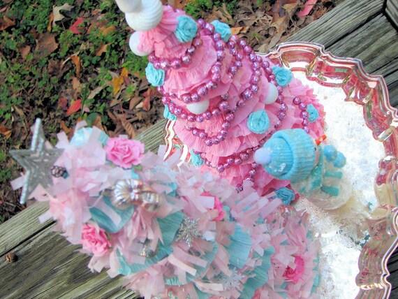 Romantic Pink Shabby Chic Christmas Tree SALE