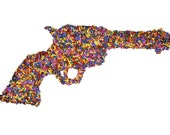 Candy Coated Gun Fine Art Photograph Photo Sprinkles Multicolor