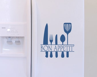 Bon Appetit' 02 Vinyl Wall Quote Decal - Available in 39 colors - WD0040
