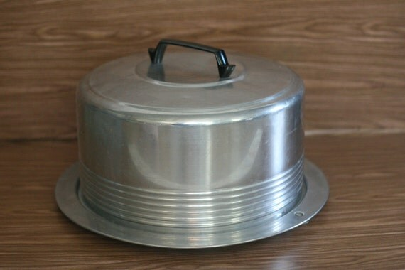 Vintage Aluminum Cake Saver with Locking Lid by Regal Ware