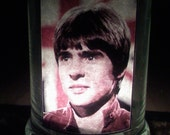 Collectible Candles Presents the Davy Jones of the Monkees Glass Candle Holder