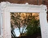 Perfectly Ornate White Mirror