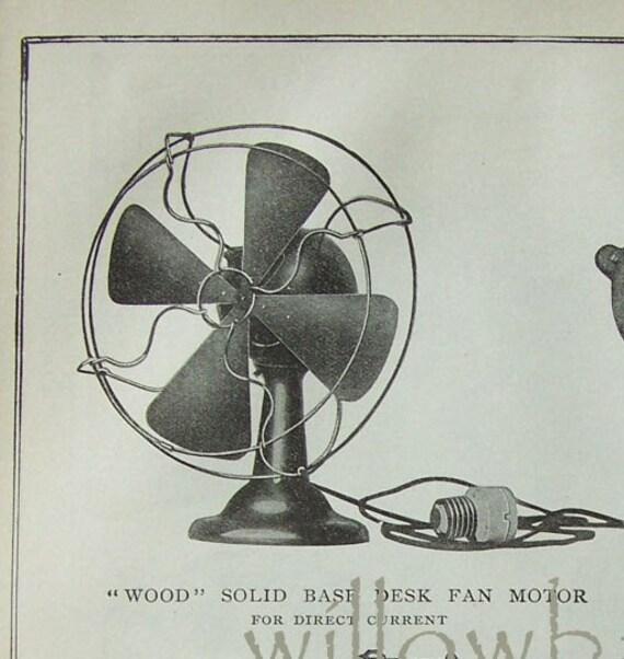 1907 antique print. Electric Motors. 2 in 1