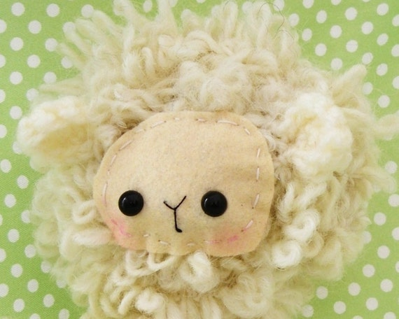sheep lamb plush amigurumi easter stuffed animal doll crochet