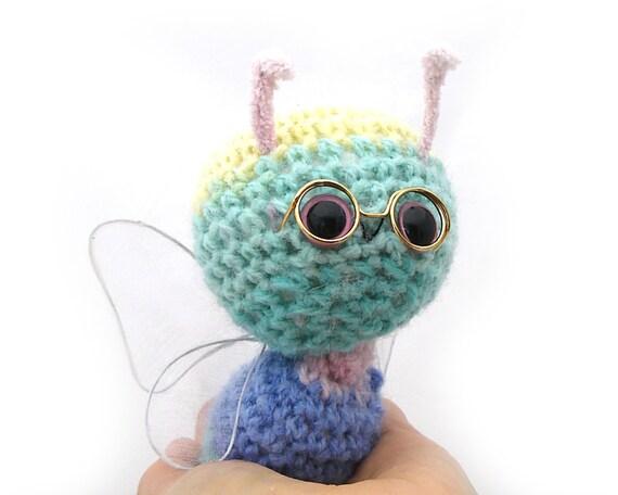 butterfly amigurumi plush rainbow pastel hanging ornament stuffed animal stuffed animal crochet heart shaped box ready to ship