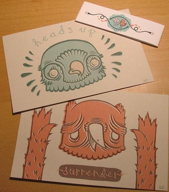 Owls Postcard Set x 2