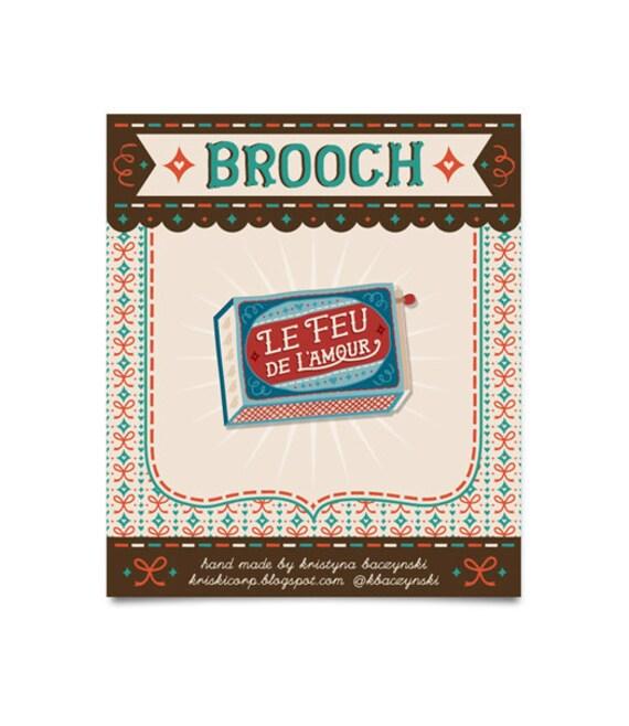 Matchbox Brooch