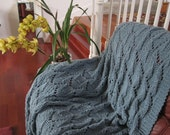 CUSTOM KNIT AFGHAN (65 Dollars) - your choice between 2 patterns and 18 colors