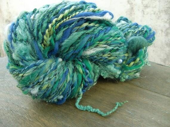 The Mermaid's Dream - Handspun Fairytale Art Yarn with Curls and Sequins