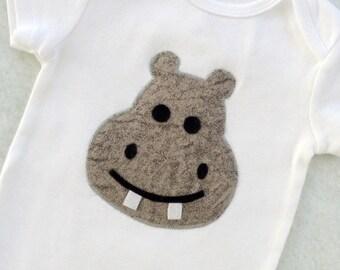 Hippo Appliqued Bodysuit