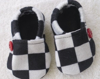 Crib Shoes Racing Fabric