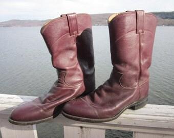 mens vintage justin cowboy boots,sz 8 1/2-d  great shape,western