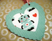 Robot Love - double-sided Gift Tags