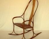 Mobius Rocking Chair in Walnut