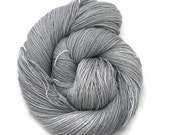 "Sock Yarn Hand Dyed Superwash ""Grey Skies in Manchester"" - UK Seller"