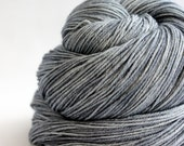 "4 ply / Fingering Merino Silk Hand Dyed ""Blue Steel"" - UK Seller"