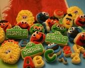 Sesame Street Inspired Mini Sugar Cookies