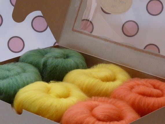 Cupcake Fiber SW Merino/Nylon Sock Fiber Batts 6 ounces  - Trio Set - Garden Series IV