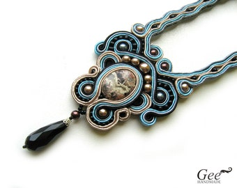 "Soutache necklace ""Venice"""