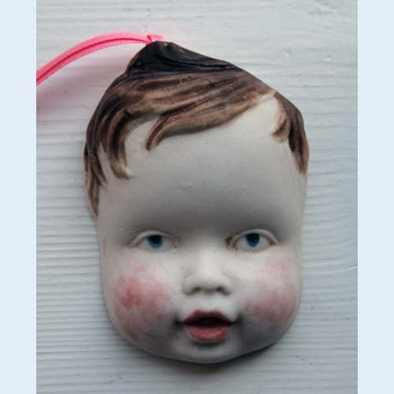 handmade china doll face
