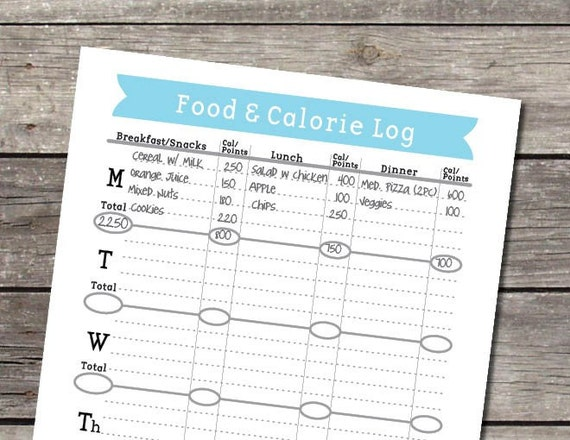 weekly food and calorie log  journal pdf