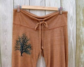 under the shade Tree Cropped Pants in Terracotta, Eco Friendly, Capris, Lounge Pants, Yoga Pants, S,M,L,XL
