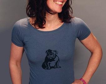 SALE Bulldog Shirt, English Bulldog, Yoga Tee, Size S,M