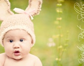 Bunny Crochet Hat 6-12 months, Toddler, Child Sizes-Perfect Halloween Costume or Easter Photo Prop