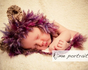 Baby Girl Lion Cub Hat-Perfect Newborn Photo Prop or Halloween costume