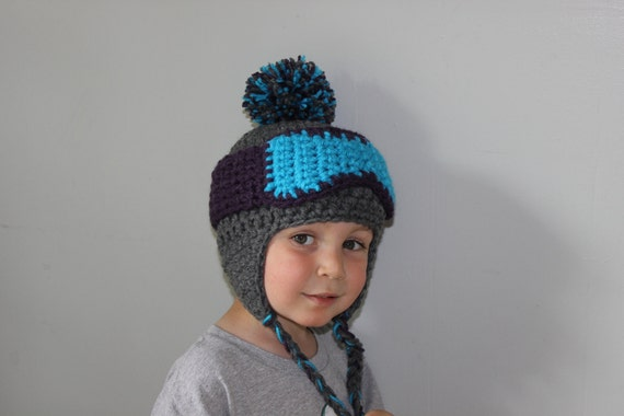 Ski Hat with Goggles Braids Pom--Toddler/Child Sizes--Adorable Ski Bunny Stocking Cap--Halloween Costume
