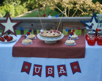 Fourth of July Banner, USA Banner