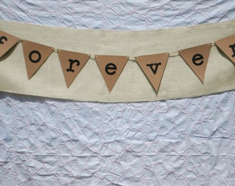 Engagement Photo Prop, Save the Date, Forever Bunting