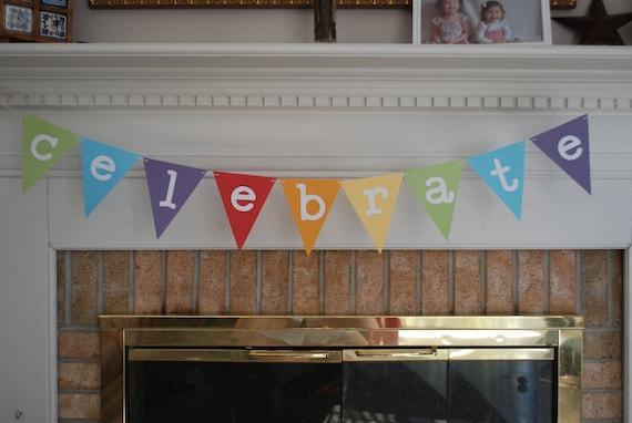 Birthday Banner, Birthday Bunting, Celebrate Bunting
