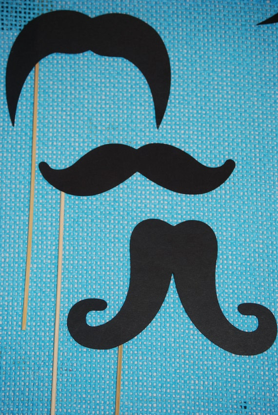 Mustache Photo Booth Props, Photo Booth Props