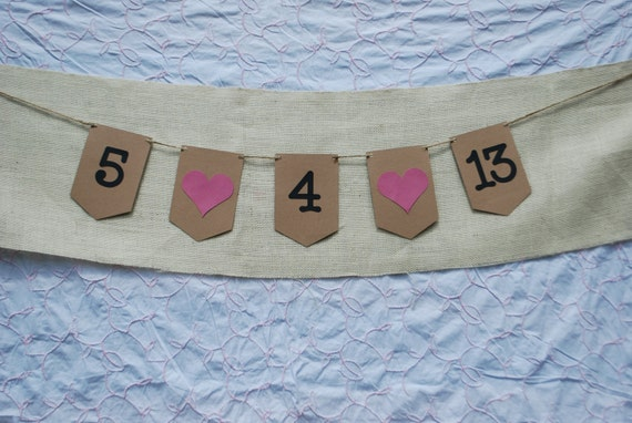 Save the Date Banner, Save the Date Photo Prop
