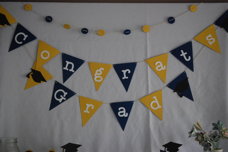 Graduation Decorations Congrats Grad Bunting Graduation Banner Graduation