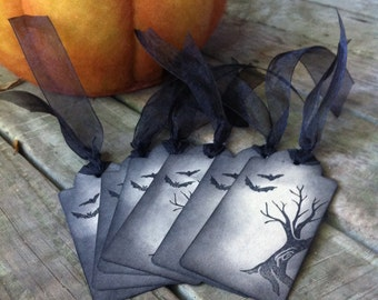 Halloween Gift Tags - Bats & BOO