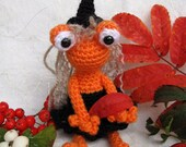 Halloween Witch Frog Of The Lonely Kind
