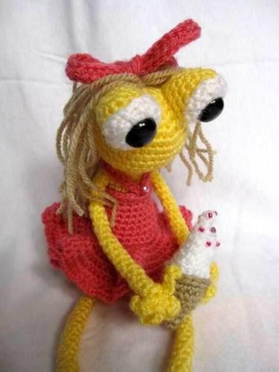 Ice cream frog girl OOAK