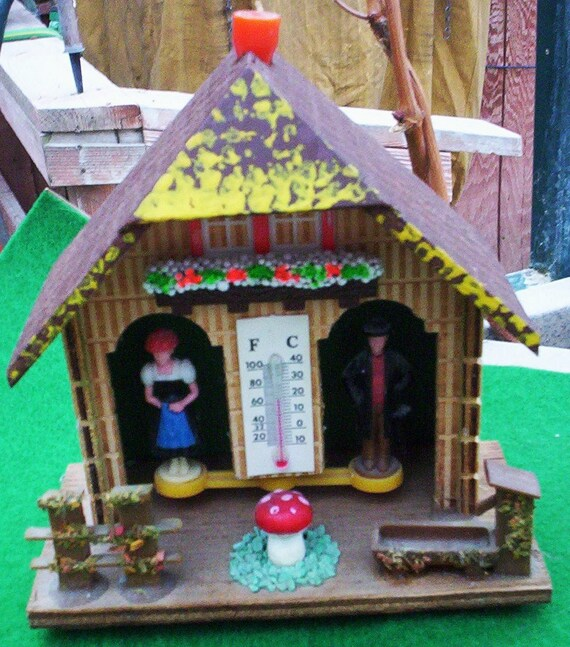 Weather Station.  Vintage Weather Haus.  West German Weather Haus.  West German Bambi Weather Haus