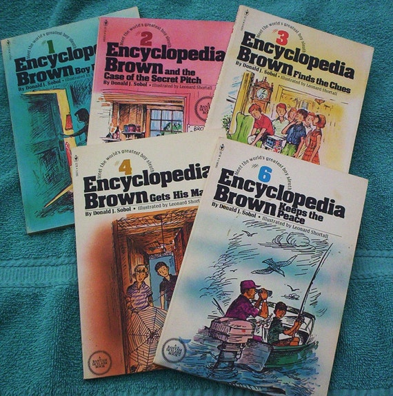 Vintage Children's Books.  1970's Encyclopedia Brown Boxed Set.  World's Greatest Boy Sleuth
