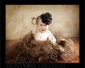 Brown Vintage Pearl Peony newborn infant toddler Headband very couture photography prop