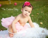 You CHOOSE COLOR Satin and Tulle Poof Headband