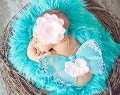 Cotton Candy Sweet Pink Sequin Headband Beautiful Photo Prop