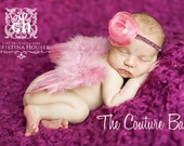 Dusty Rose Feather Princess Butterfly Fairy WINGS and HEADBAND