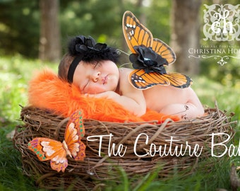Sleeping Beauty Monarch Butterfly Wings Beautiful Photo Prop First Christmas Photos