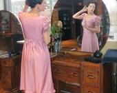 1940s Style - Vintage Rose Dress